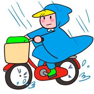 自転車通勤のための雨対策